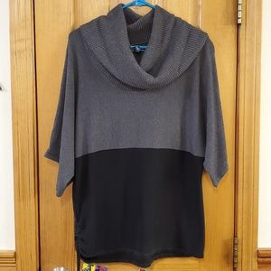 Karen Scott Cowl Neck Tunic Sweater Large